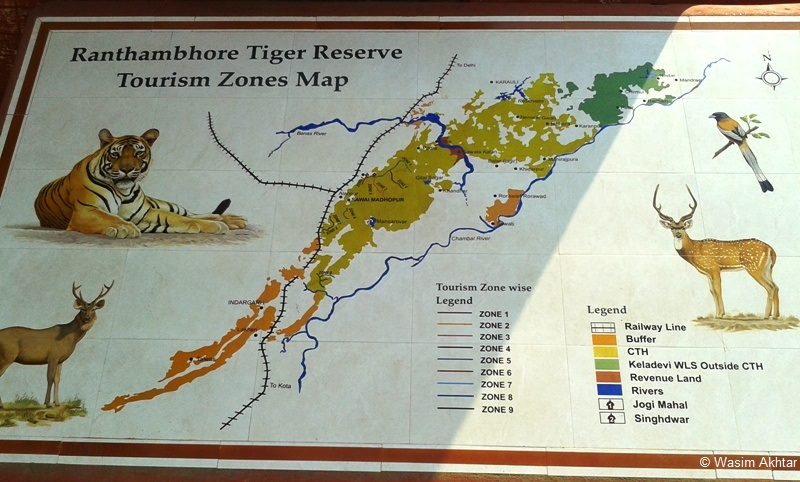 Ranthambore National Park Map